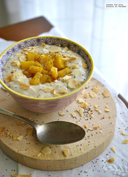 Porridge Escoces Con Mango Caramelizado Receta De Cocina Facil