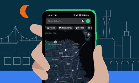 Google Maps recibe oficialmente su modo oscuro: mapas y rutas en escala de grises para navegación nocturna más cómoda