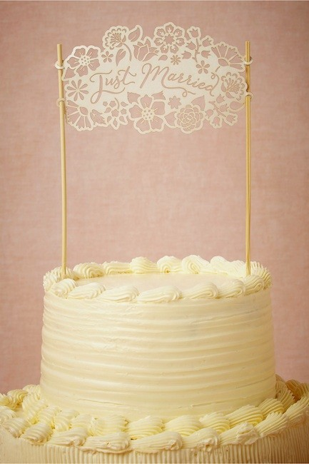 Los toppers más originales para los pasteles de boda