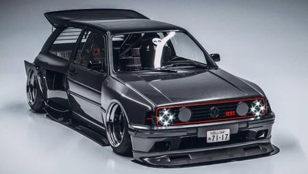 ¡Espectacular! Este Volkswagen Golf GTI Mk2 nació como un render, pero se va convertir en el Golf clásico más radical
