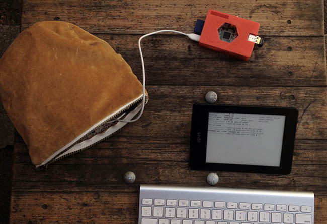 Programando con un Kindle Paperwhite y una Raspberry Pi