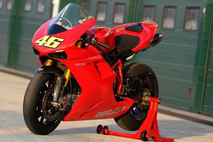 Valentino Rossi y la Ducati 1198 SP