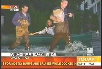 La periodista en canoa