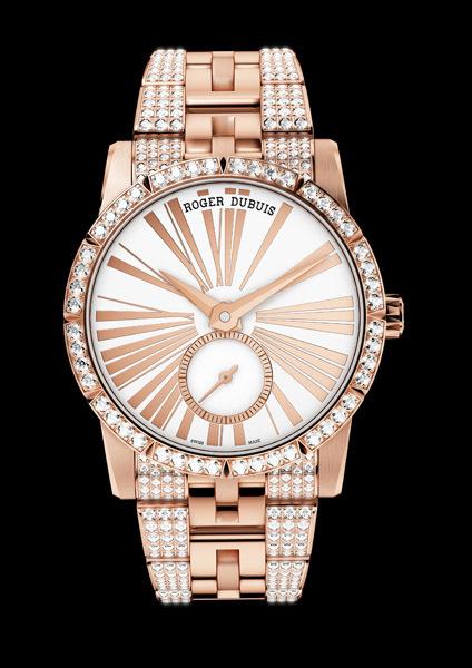 """El """"Excalibur 36"""" de oro rosa y diamantes de Roger Dubuis"""