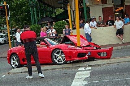 Accidente Ferrari 360