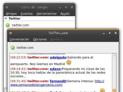 Microblog-Purple: Twitter integrado en Pidgin
