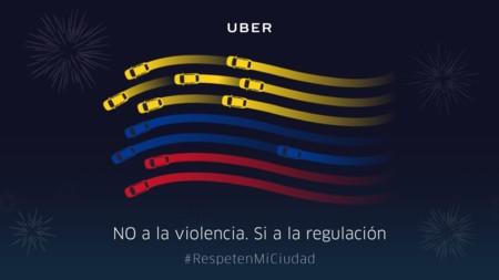 No a la violencia, si a la regulación es la nueva campaña de UBER en Colombia