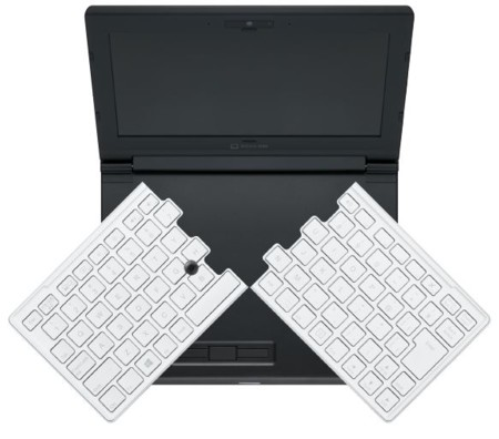 Este pequeño portátil de 8 pulgadas tiene dentro un teclado de 12 pulgadas