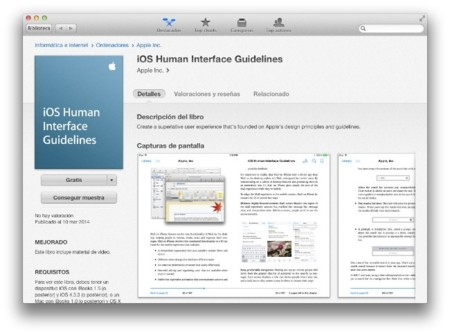 iOS Human Interface Guidelines, disponible en la iBooks Store