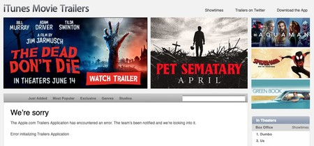 Apple Trailers Error