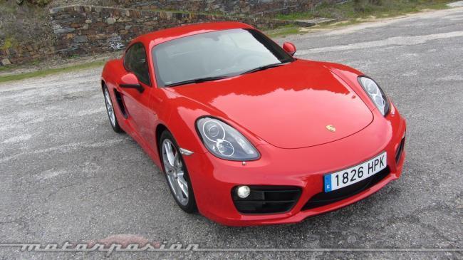 Porsche Cayman frontal presentación