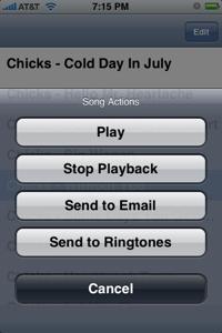 SendSong: comparte música desde tu iPhone
