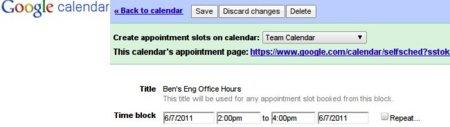 Citas en Google Calendar