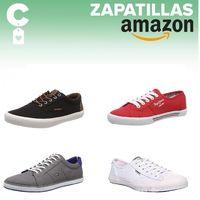 Ofertas en tallas sueltas de zapatillas de lona Pepe Jeans, Tommy Hilfiger o Superdry en Amazon