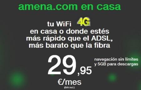 Amena en casa cambia sus condiciones: 5 GB para descargas, 100 GB para navegación