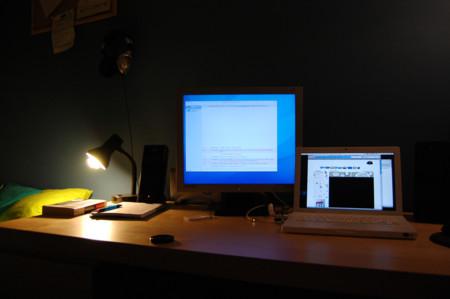 trabajando de noche