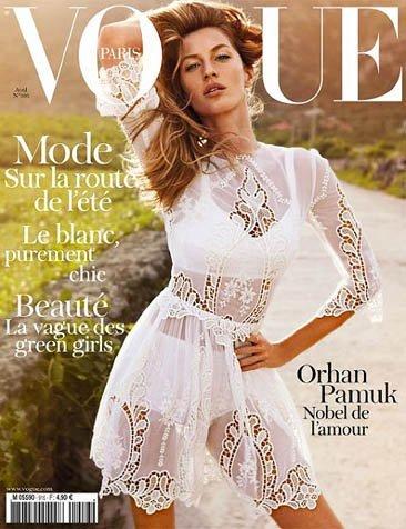 Gisele Bündchen en la portada de Vogue Francia y Vogue Portugal de abril