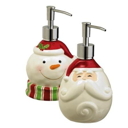 Unos dispensadores de jabón muy navideños