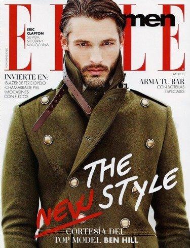 Ben Hill en la portada de Elle men de México