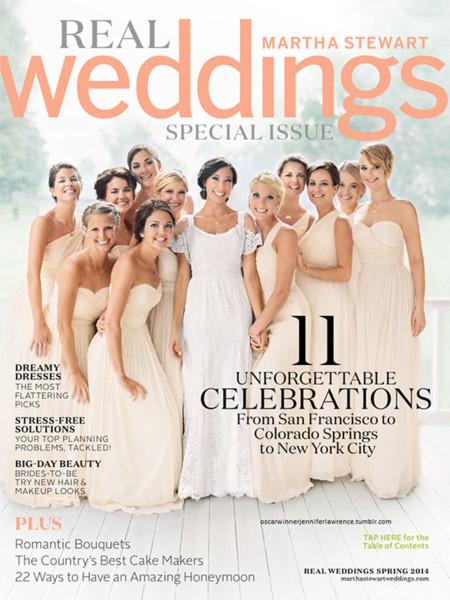 Jennifer Lawrence vestido novia boda Martha Stewart