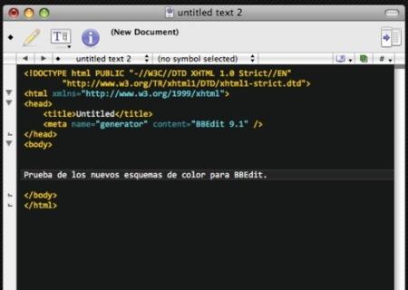 BBColors, esquemas de color para resaltar los textos de BBEdit