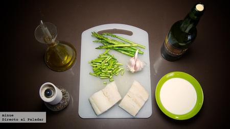 Bacalao con salsa de nata y sidra - ingredientes