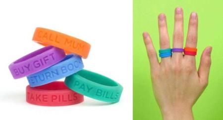 Coloridos anillos para los más olvidadizos