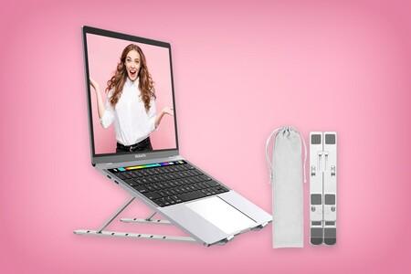 Este soporte para laptops de hasta 15 pulgadas está de oferta en Amazon México: se puede plegar y tiene siete niveles de altura