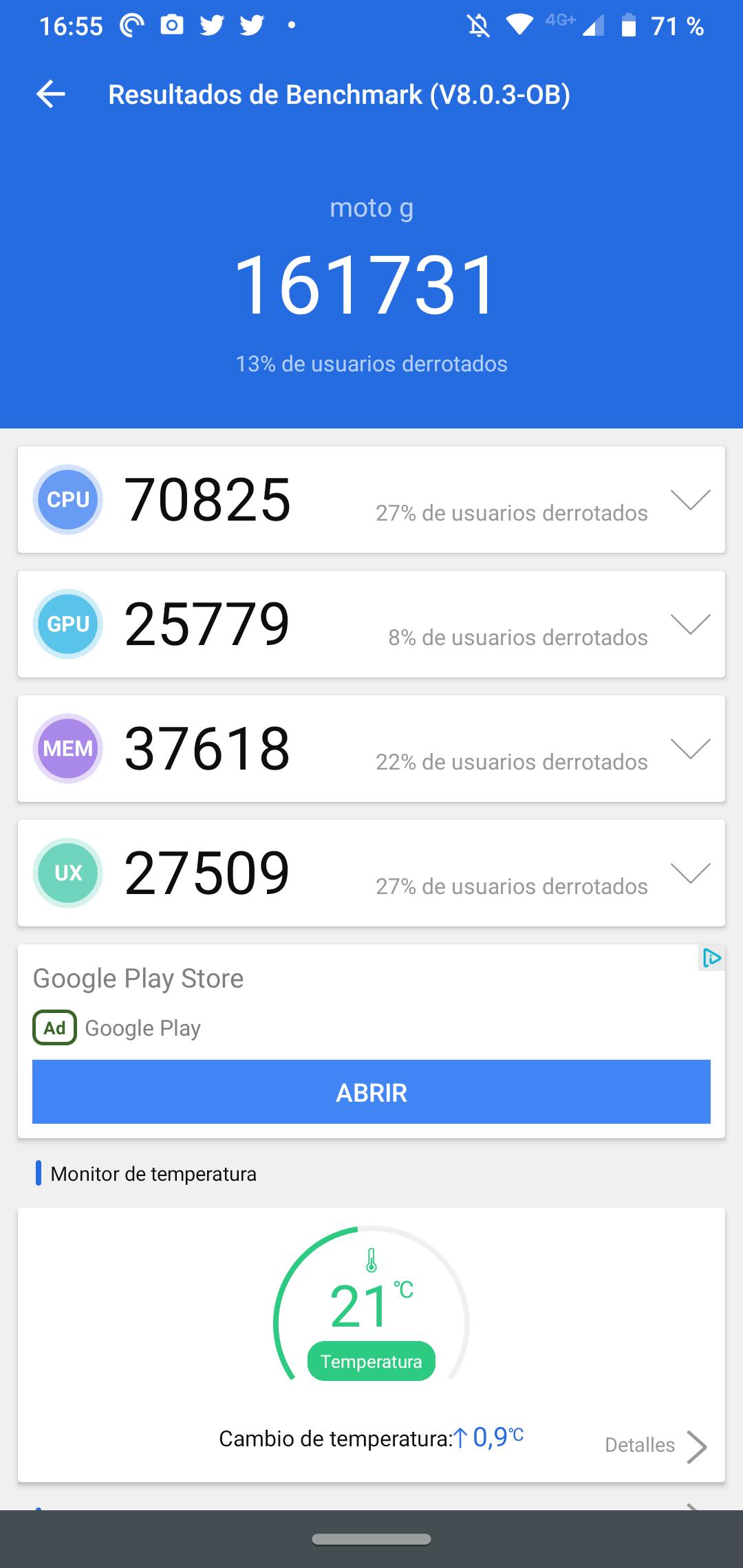 Moto G8 Plus interfaz