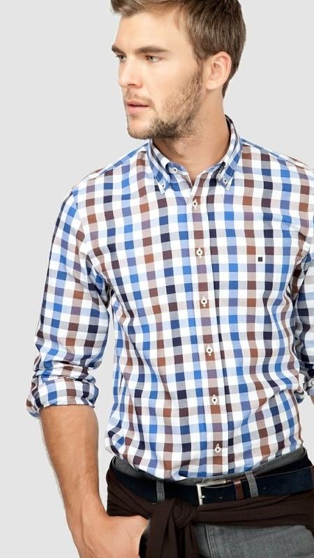 Camisa Oxford cuadros