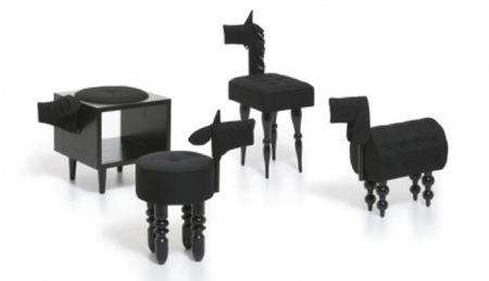Divertidos asientos con forma de animales