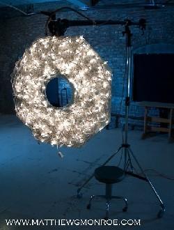 Anillo casero con luces de navidad