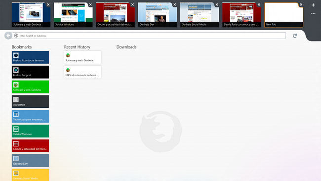 Firefox para Windows 8 Modern UI