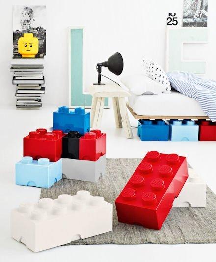 Cajas de Lego gigantes para guardar los juguetes
