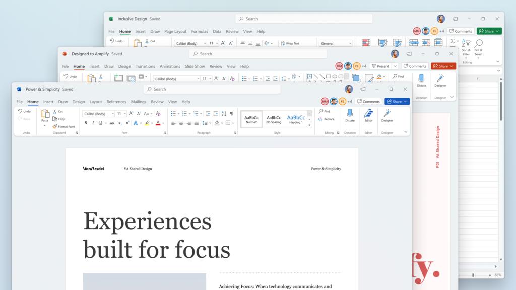 Office al estilo Windows 11: cómo es la nueva apariencia gráfica de la suite ofimática