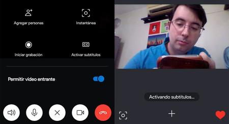 Cómo añadir subtitulos a una llamada en Skype para Android