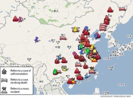 El Mapa de la Sangre en la expansión urbanística en China