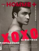 Ed Westwick, impresionante portada de la revista Arena Homme Plus