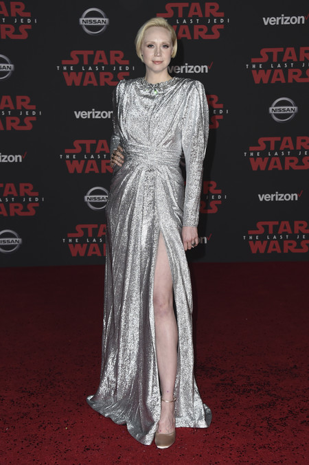 star wars ultimo jedi alfombra roja look Gwendoline Christie