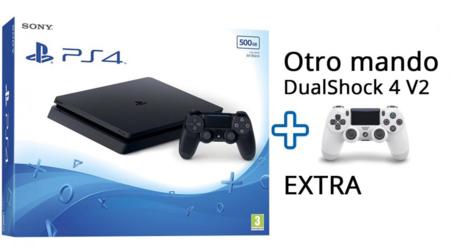 Consola Sony PlayStation 4 Slim, con dos mandos DualShock, por 239,90 euros