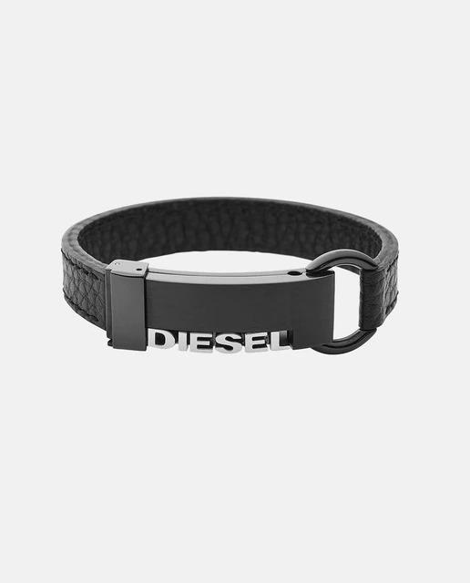 Pulsera de hombre Diesel de piel negra
