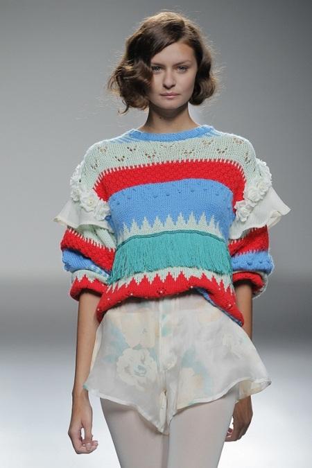 Jersey multicolor de Isabel Ruíz