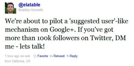 Google+ ofrecerá listas de usuarios sugeridos