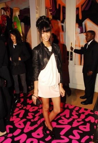 Chanel Iman en la fiesta de Louis Vuitton a Stephen Sprouse en el SoHo