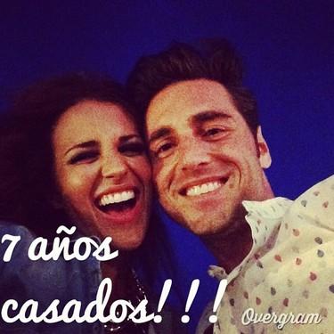 Felices cual perdices celebran su aniversario Paula Echevarría y David Bustamante