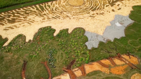 Land Art Painting Field Van Gogh Olive Trees Stan Herd 05