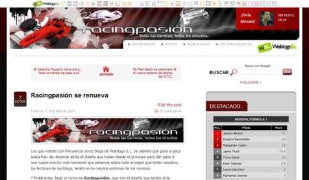 Nueva página de usuario en Racingpasión: sácale partido