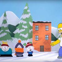Homer Simpson invade 'South Park' y 'Robot Chicken', la imagen de la semana