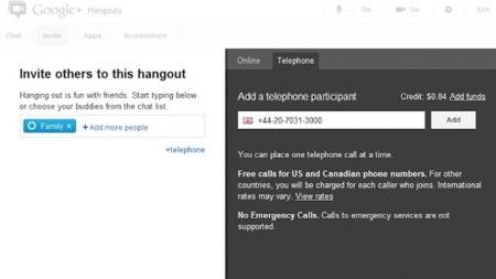 Google+ incorpora a los hangouts normales las llamadas telefonicas