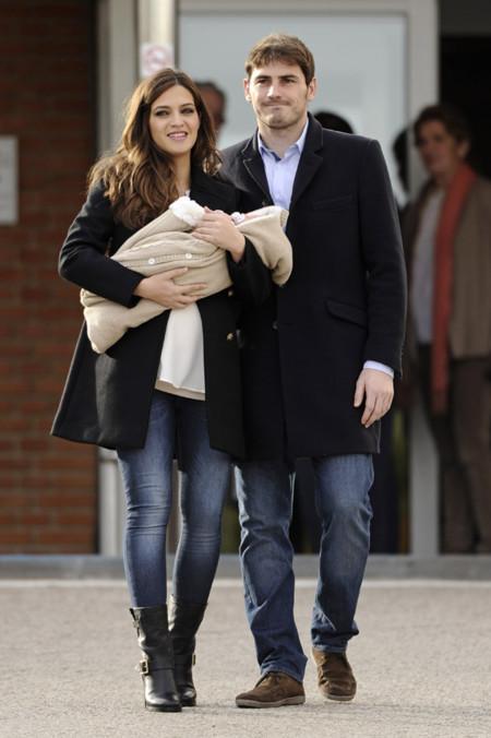 Sara Carbonero e Iker Casillas con su pequeño Martín